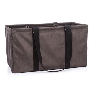 Thirty-One Large Utility Tote- Chestnut Distressed